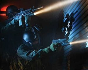 Police LED Flashlight With Strobe