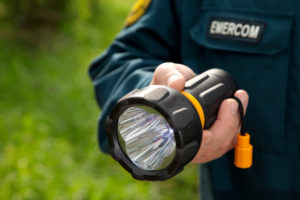 Handheld LED Flashlight With Zoom